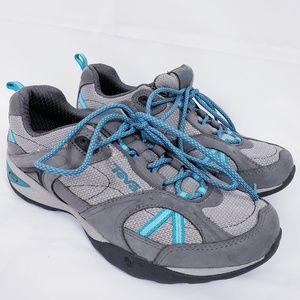Teva grey/blue sky lake hiking trail shoe sz 8